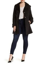 Via Spiga Detachable Hood Trench Coat Plus Size Black