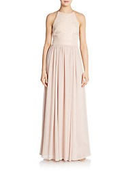 Vera Wang Sequined Top Gown Blush