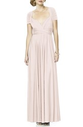 Dessy Collection Women's Convertible Wrap Tie Surplice Jersey Gown