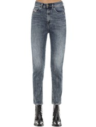 Diesel D Eiselle Cotton Denim Straight Jeans Blue