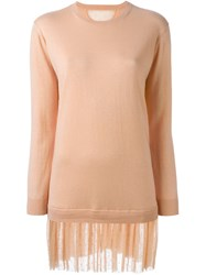 Red Valentino Tulle Bottom Sweater Dress Pink And Purple