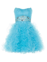 Anoushka G Tara Short Tulle Prom Dress Blue