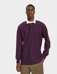 Paa L S Rugby Shirt In Eggplant