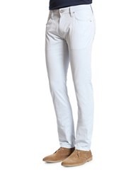 Heritage Courage Straight Leg Five Pocket Chinos Sky