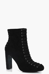 Daisy Lace Up Front And Back Ankle Boot