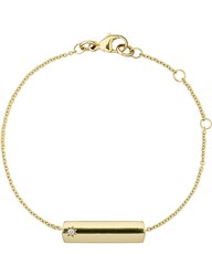 The Alkemistry Star Bar 9Ct Yellow Gold And Diamond Necklace