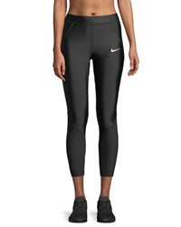 Nike Speed 7 8 Mesh Panel Running Tights Black