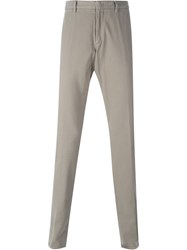 Z Zegna Concealed Button Chino Trousers Nude And Neutrals