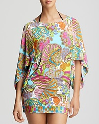 Trina Turk Coral Reef Swim Cover Up Tunic Multi