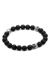 Cufflinks Inc. Skull Bead Bracelet Black