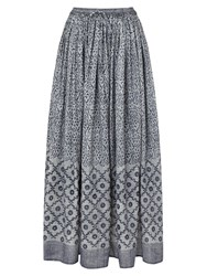 East Tile Print Skirt Indigo