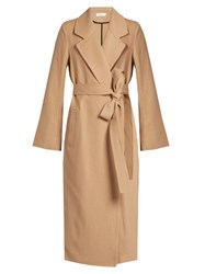 A.L.C. Christopher Wool Twill Coat Camel