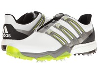 Adidas Powerband Boa Boost Ftwr White Iron Metallic Solar Slime Men's Golf Shoes