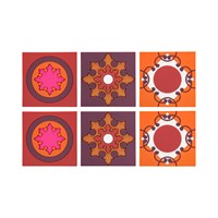 Images D'orient Set Of 6 Coasters Zafaf