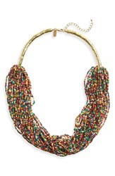 Natasha Couture Women's Beaded Multistrand Necklace