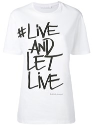 Neil Barrett Slogan Printed T Shirt Women Cotton Xxs White