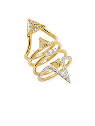 Noir Cz Cutout Ring Gold Clear