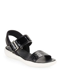 Aquatalia By Marvin K Romy Leather Sport Sandals Black