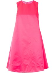 Mcq By Alexander Mcqueen Trapeze Dress Pink And Purple