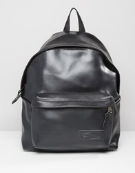 Eastpak Padded Pak'r Perforated Leather Backpack Black
