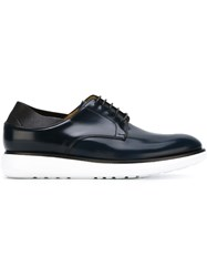 Giorgio Armani Lace Up Derby Shoes Blue