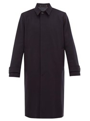 Paul Smith Brushed Wool And Cashmere Blend Coat Navy