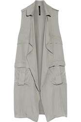 W118 By Walter Baker Draped Voile Vest Army Green