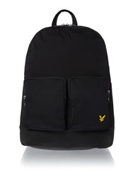 Lyle And Scott Double Front Pocket Backpack Black