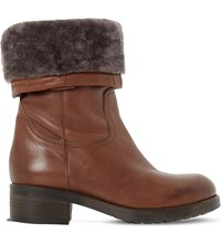 Dune Roderik Leather Calf Boots Tan Leather