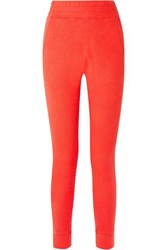 The Elder Statesman Cashmere Track Pants Tomato Red