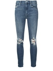 Mother High Waisted Looker Jeans Blue