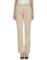 Trussardi Jeans Trousers Casual Trousers Women Beige