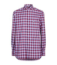 Stefano Ricci Bold Check Shirt Male Red