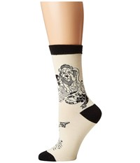Socksmith Off To See The Wizard Ivory Crew Cut Socks Shoes White