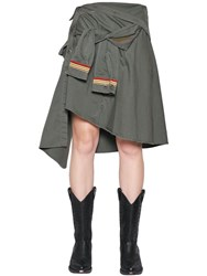 Faith Connexion Military Cotton Canvas Shirt Skirt