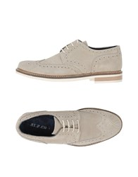 At.P. Co At.P.Co Lace Up Shoes Light Grey