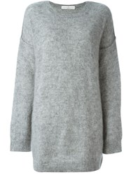 Golden Goose Deluxe Brand Loose Fit Knitted Dress Grey