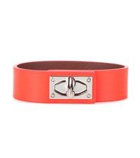 Givenchy Shark Tooth Leather Bracelet Orange