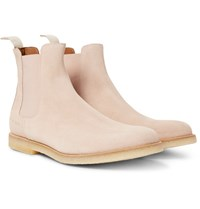 Common Projects Suede Chelsea Boots Pink