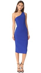 Diane Von Furstenberg One Shoulder Knit Dress Klein Blue