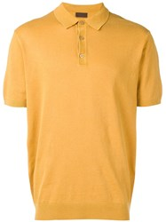 Altea Knitted Polo T Shirt Yellow