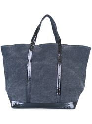 Vanessa Bruno Sequined Strap Tote Blue