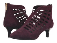 Rockport Total Motion Kalila Cut Out Dark Vino Suede Women's Boots Brown