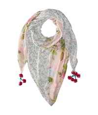 Steve Madden Coco Floral Patched Day Wrap Blush Scarves Pink