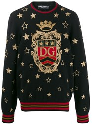 Dolce And Gabbana Dg Star Embroidered Jumper 60