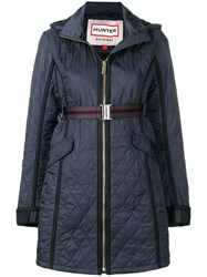Hunter Quilted Zipped Coat Blue