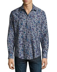 1 Like No Other Navy Floral Print Button Shirt Charcoal