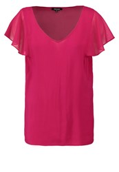 More And More Print Tshirt Dark Ruby Red