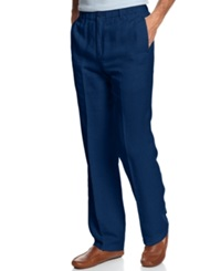 Tommy Bahama Big And Tall New Linen On The Beach Pants Blue Note