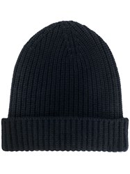 Cruciani Cashmere Knitted Hat Blue